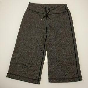 Lululemon grey capri workout pants drawstring